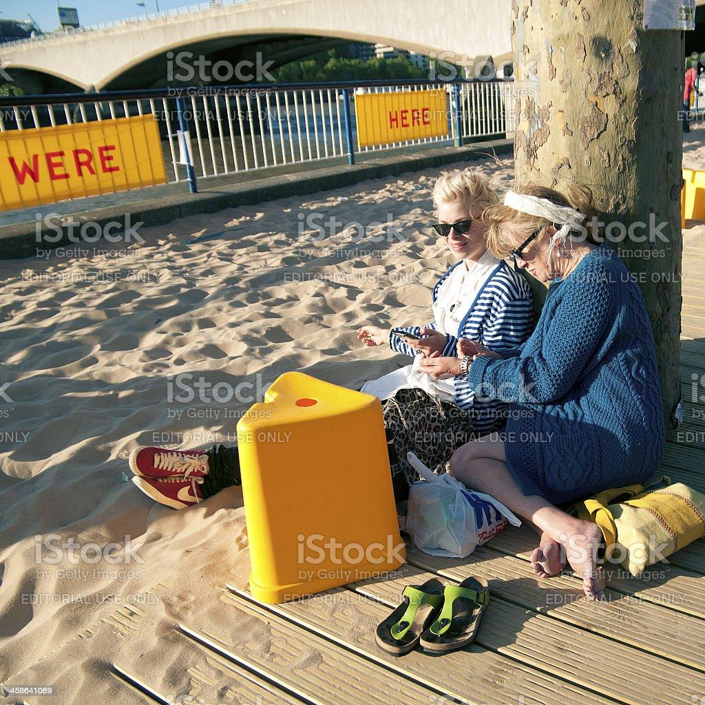 London Beach royalty-free stock photo