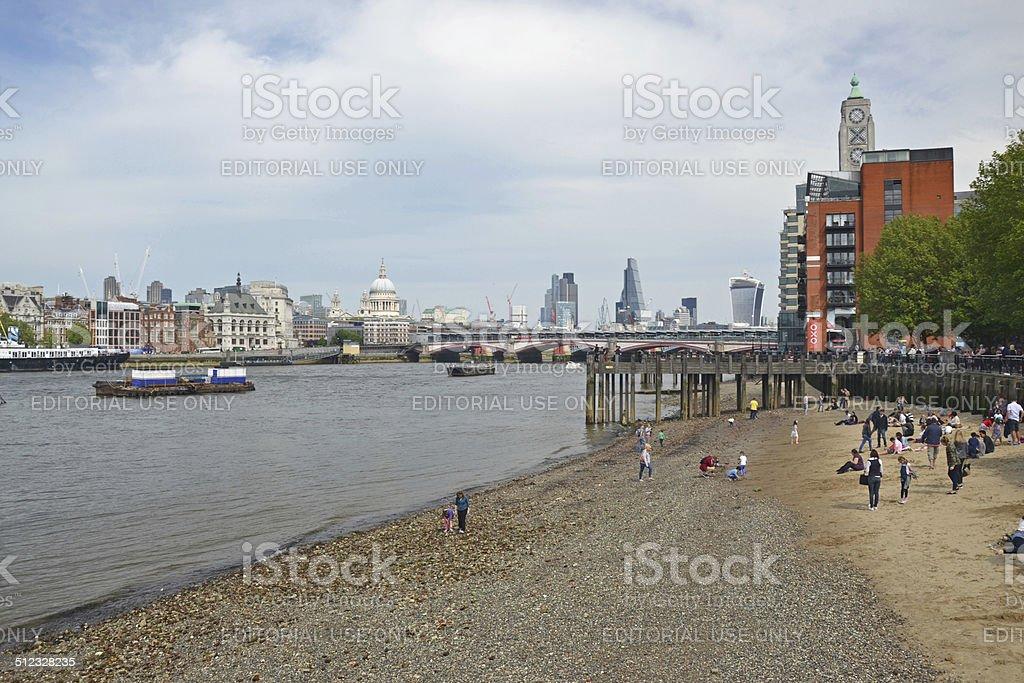 London Beach stock photo