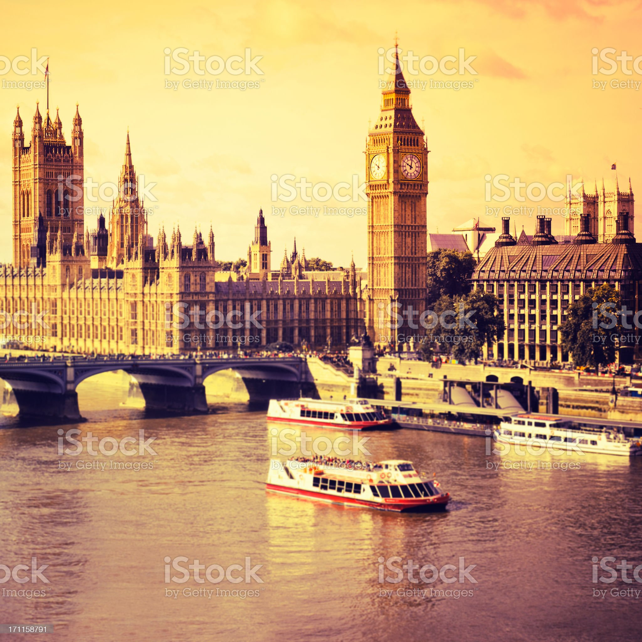 London Big Ben and House of Parliament royalty-free stock photo