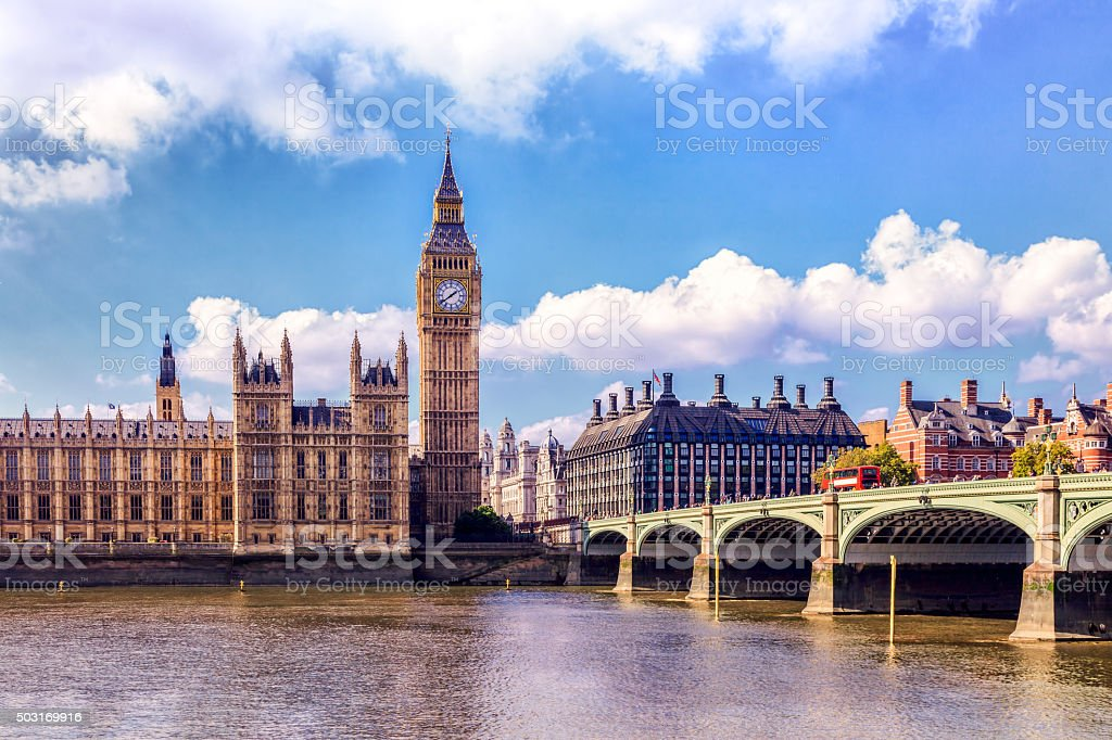 London Big Ben and House of Parliament stock photo