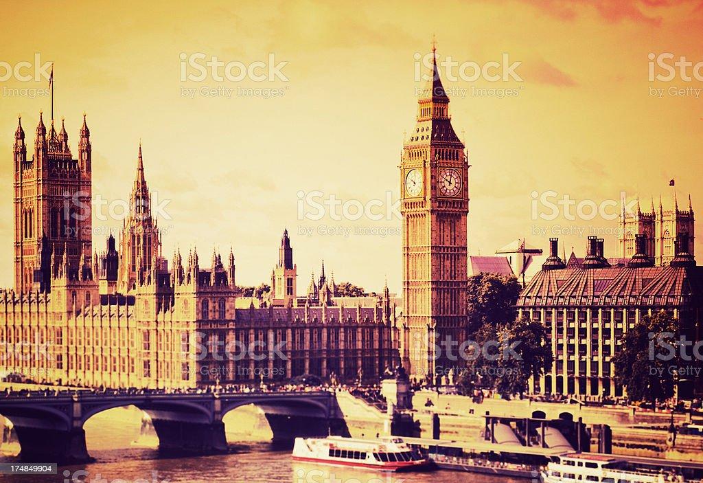London Big Ben and westminster bridge royalty-free stock photo
