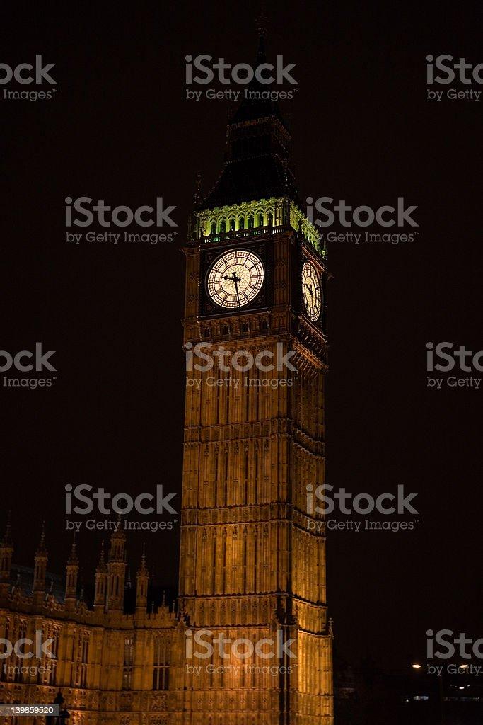 London Big Ben at night stock photo