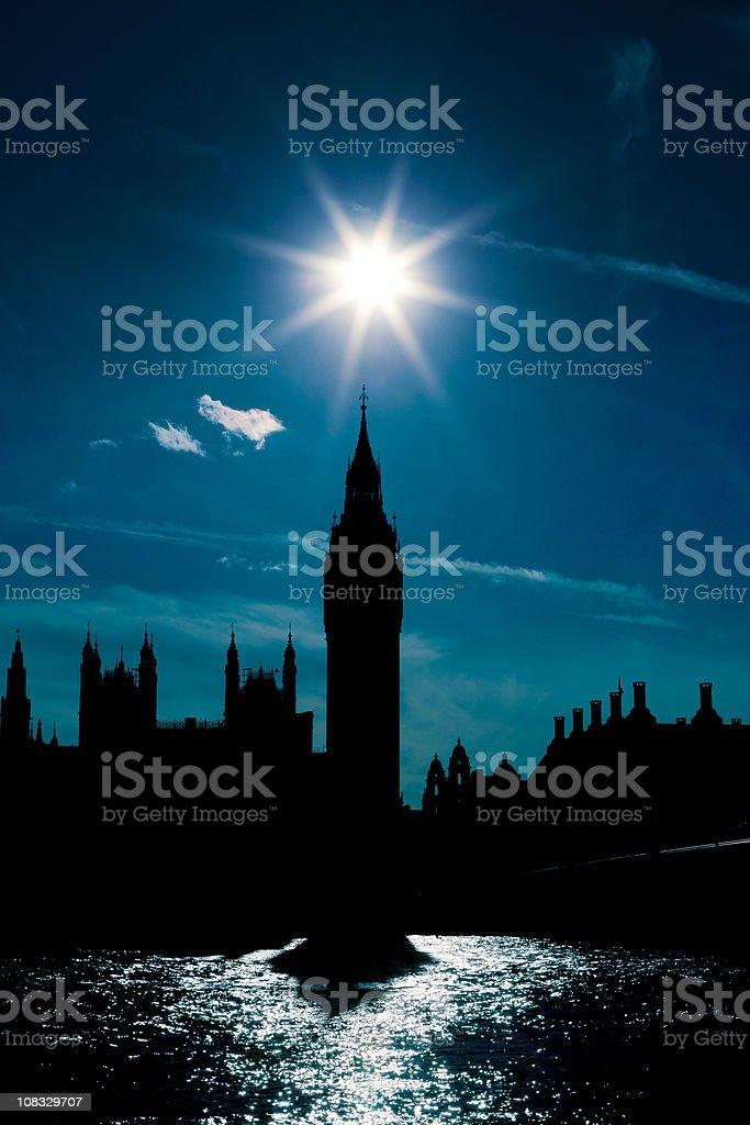 London Big Ben backlit royalty-free stock photo