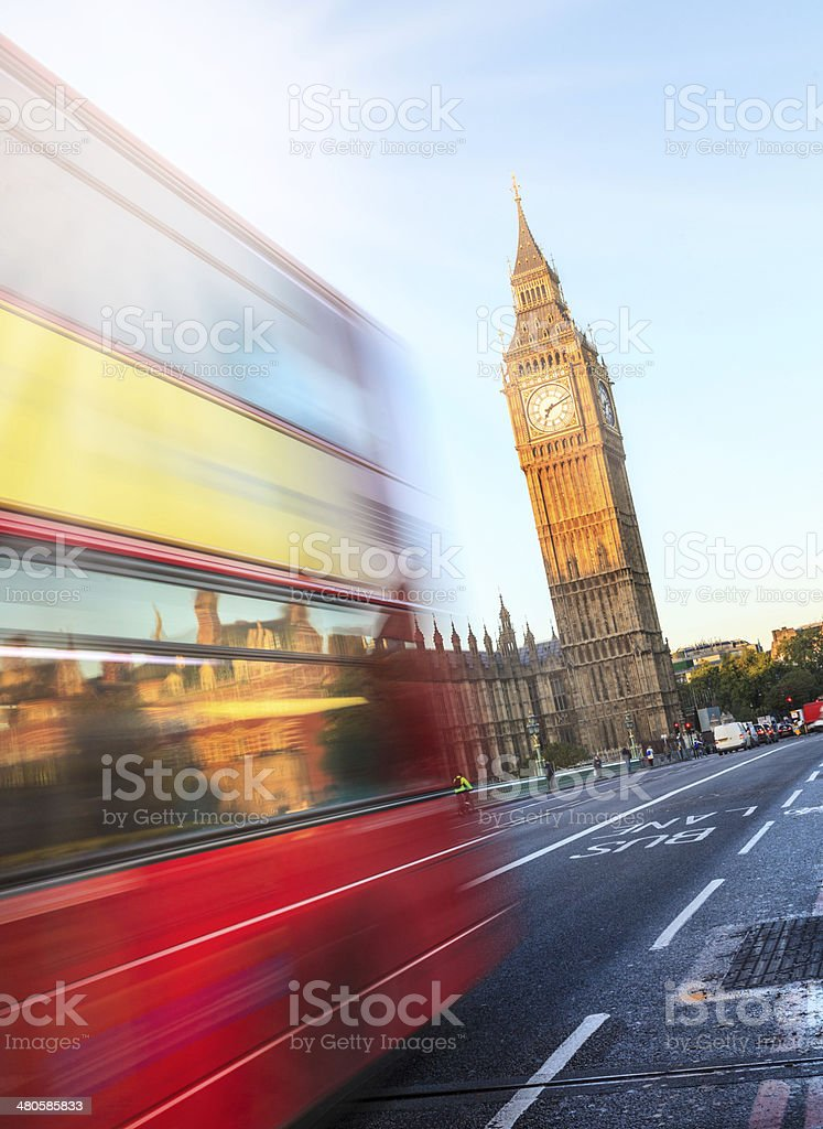 London - Big Ben early morning flare royalty-free stock photo
