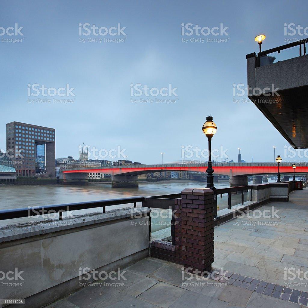 London Bridge at dawn royalty-free stock photo