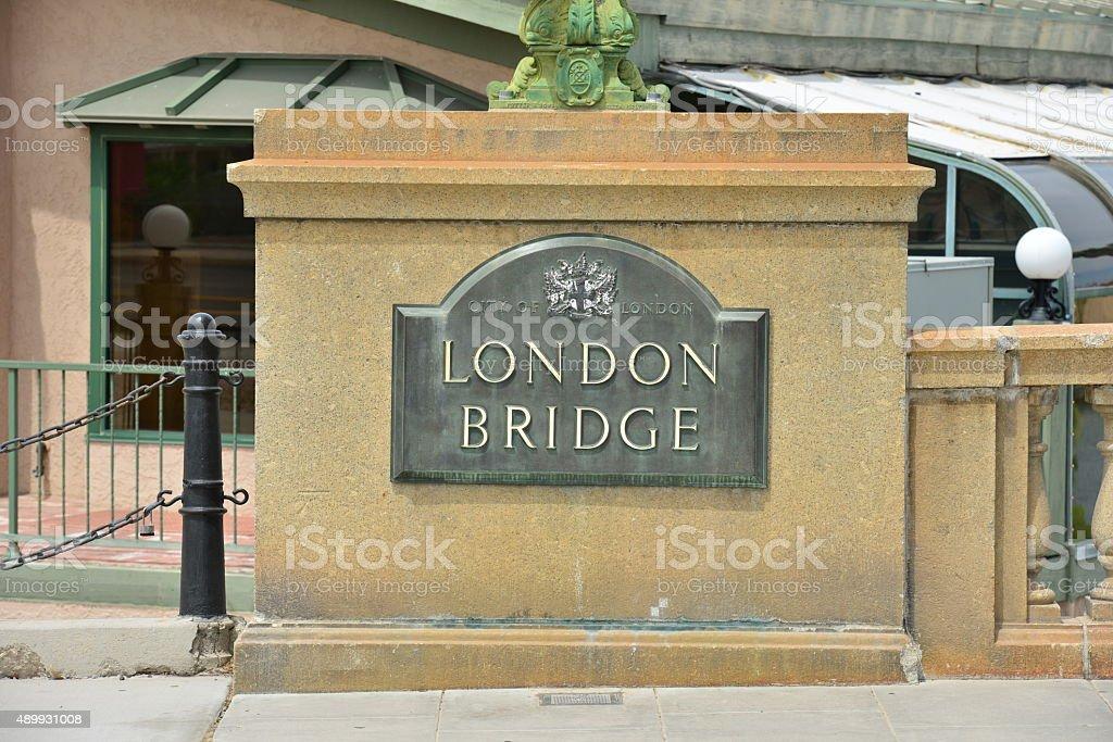 London Bridge at Lake Havasu in Arizona stock photo