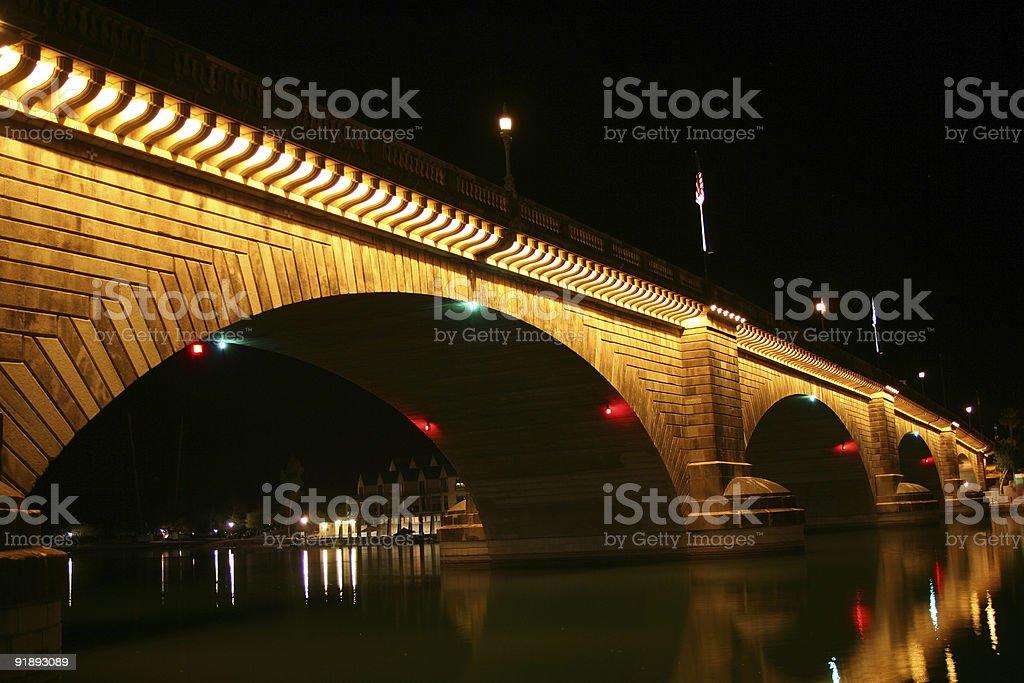 London Bridge at Night royalty-free stock photo