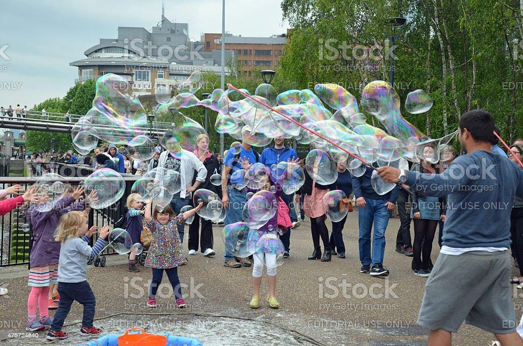 London Bubbles stock photo