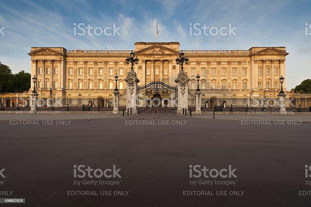 London Buckingham Palace sunrise The Mall UK stock photo