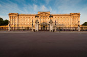 London Buckingham Palace sunrise The Mall UK