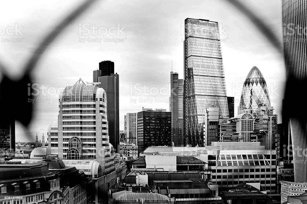 London buildings stock photo