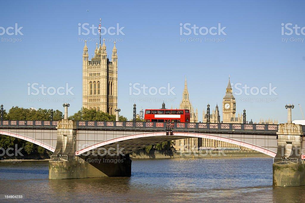 London bus and Big Ben royalty-free stock photo
