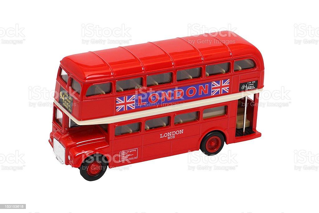 London bus souvenir stock photo