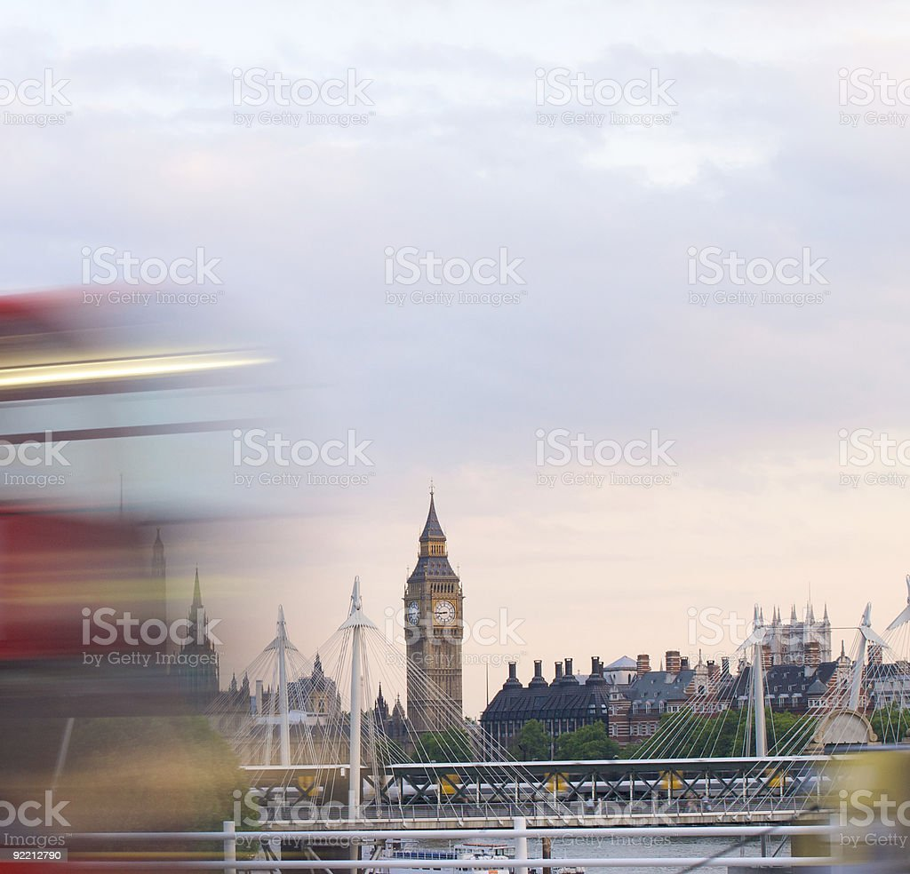 London Buses are FAST royalty-free stock photo