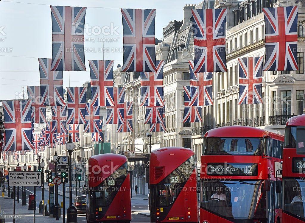 London buses stock photo