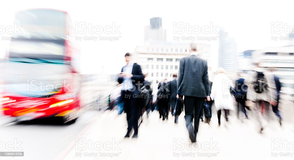 London Businesspeople in motion royalty-free stock photo