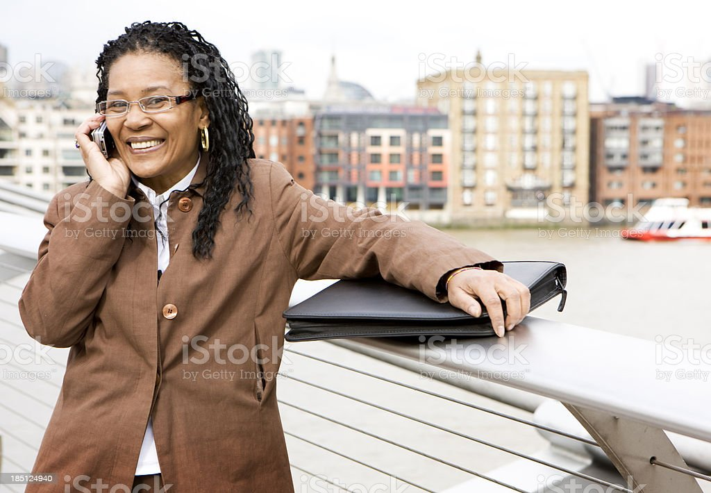 London businesswoman on the phone royalty-free stock photo