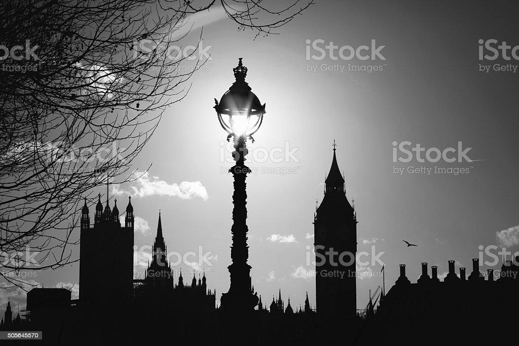 London B&W stock photo