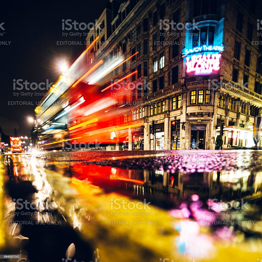 London by night. stock photo