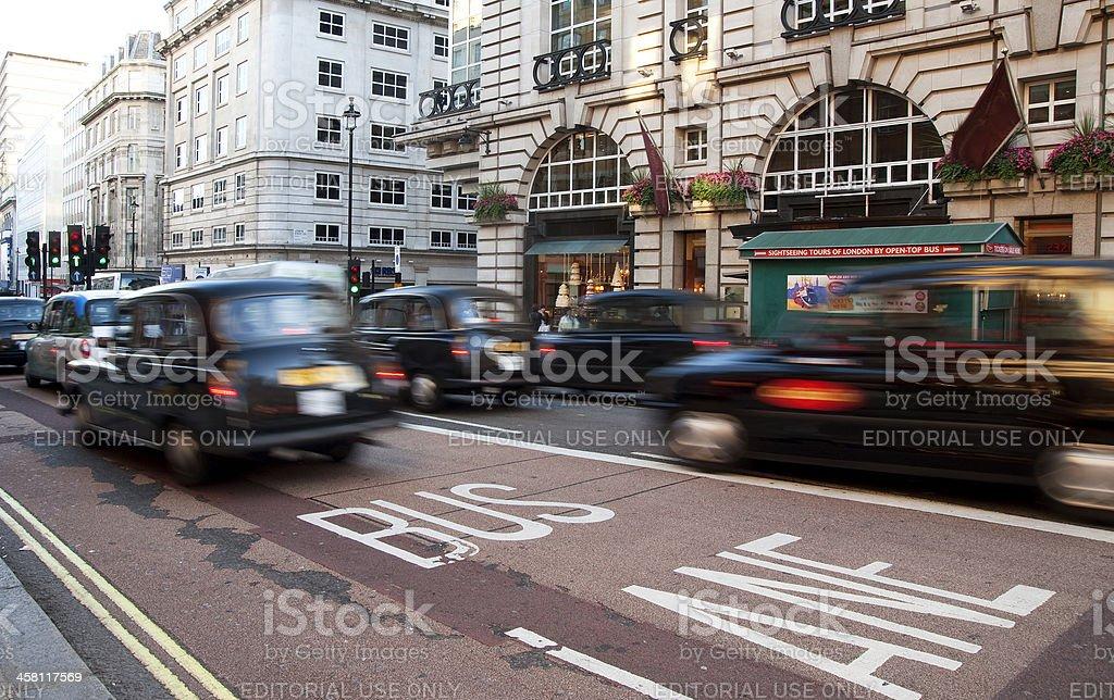 London cabs stock photo