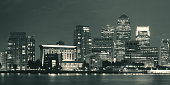 London Canary Wharf at night