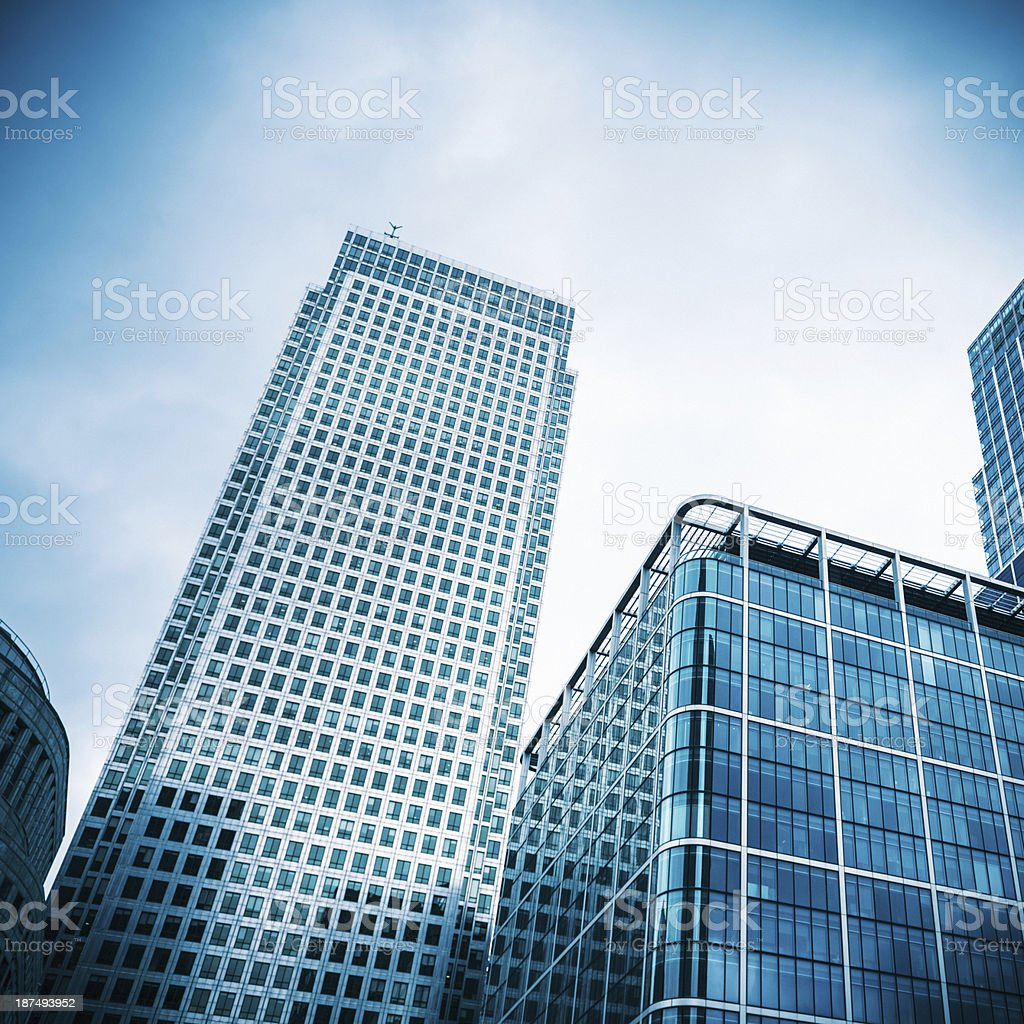 London canary wharf building exterior royalty-free stock photo