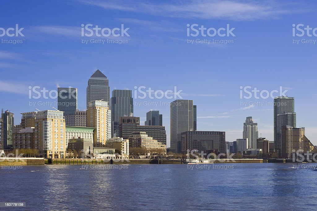 London, Canary Wharf Business District royalty-free stock photo