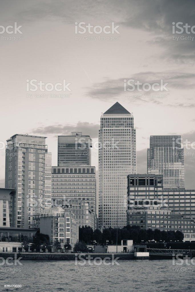 London Canary Wharf stock photo