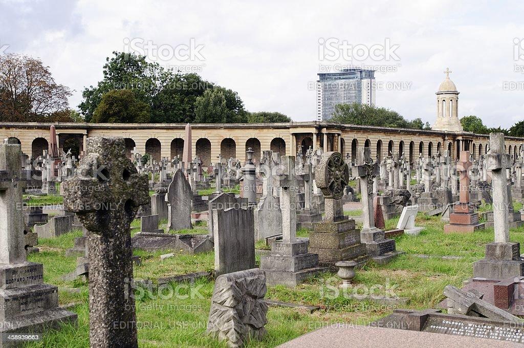 London Cemetery stock photo