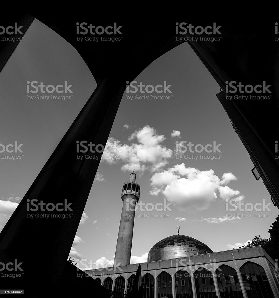 London Central (Regents Park) Mosque England, UK royalty-free stock photo