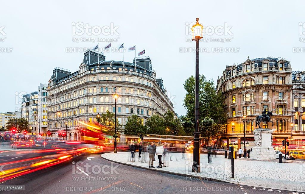 London, Charing Cross junction at twilight stock photo