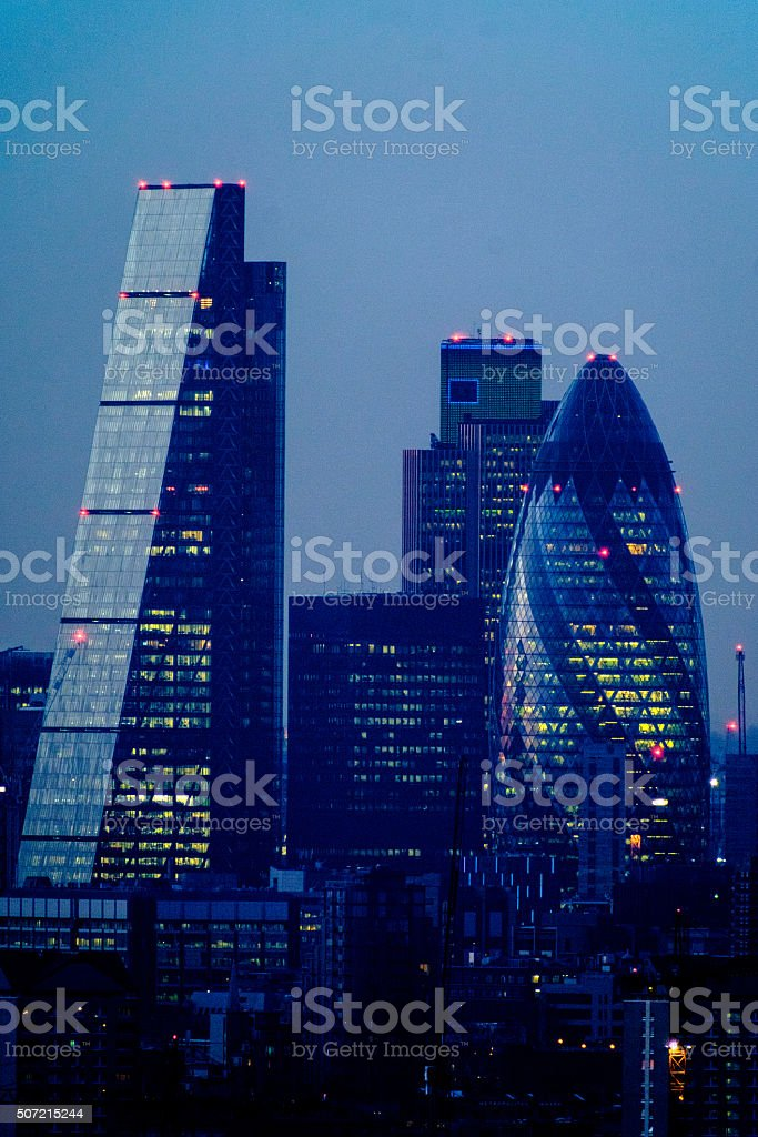 London Cheese Grater and Gherkin stock photo