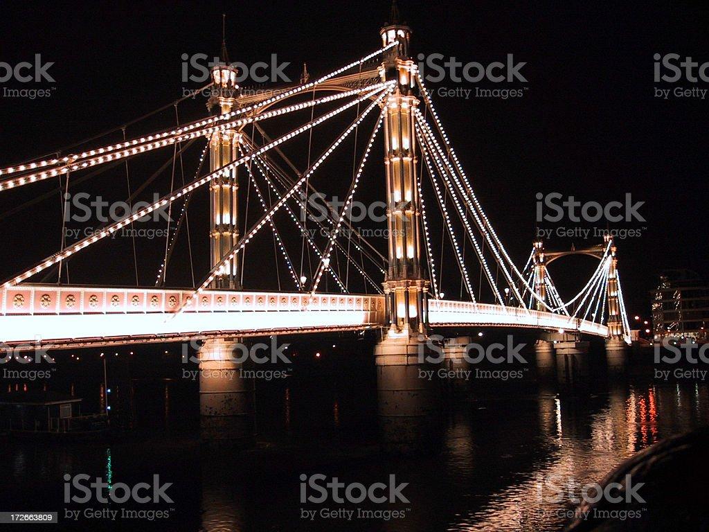 London Chelsea Bridge stock photo