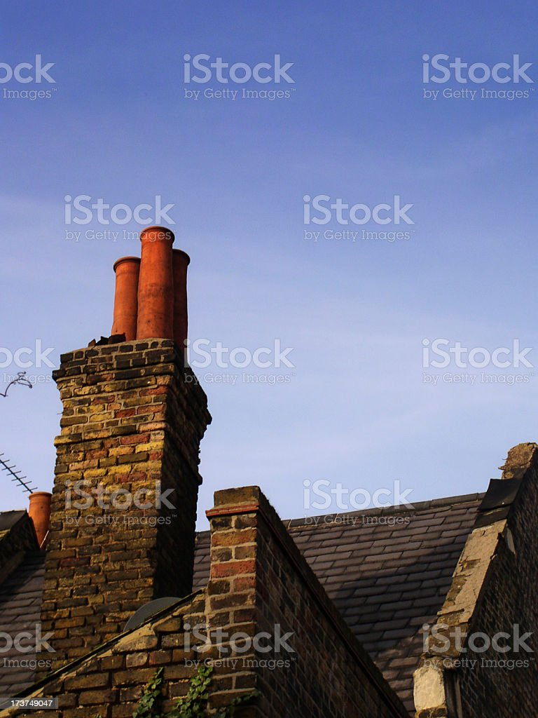 london chimneys royalty-free stock photo