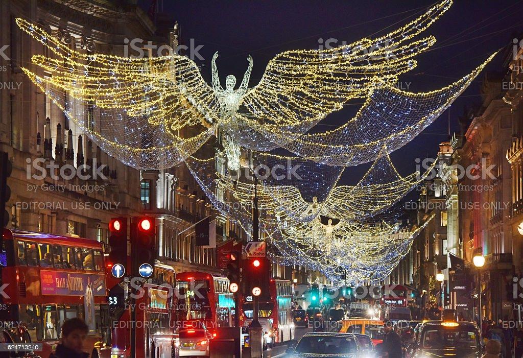 London Christmas Angels stock photo