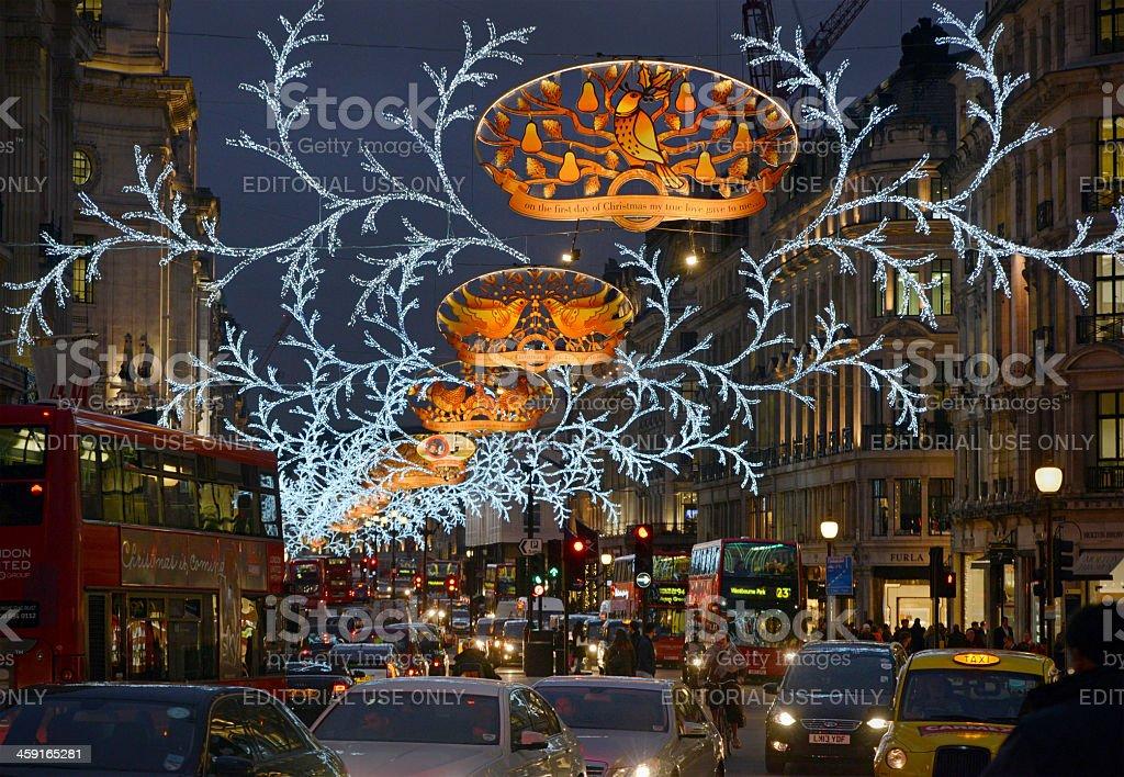 London Christmas Lights royalty-free stock photo