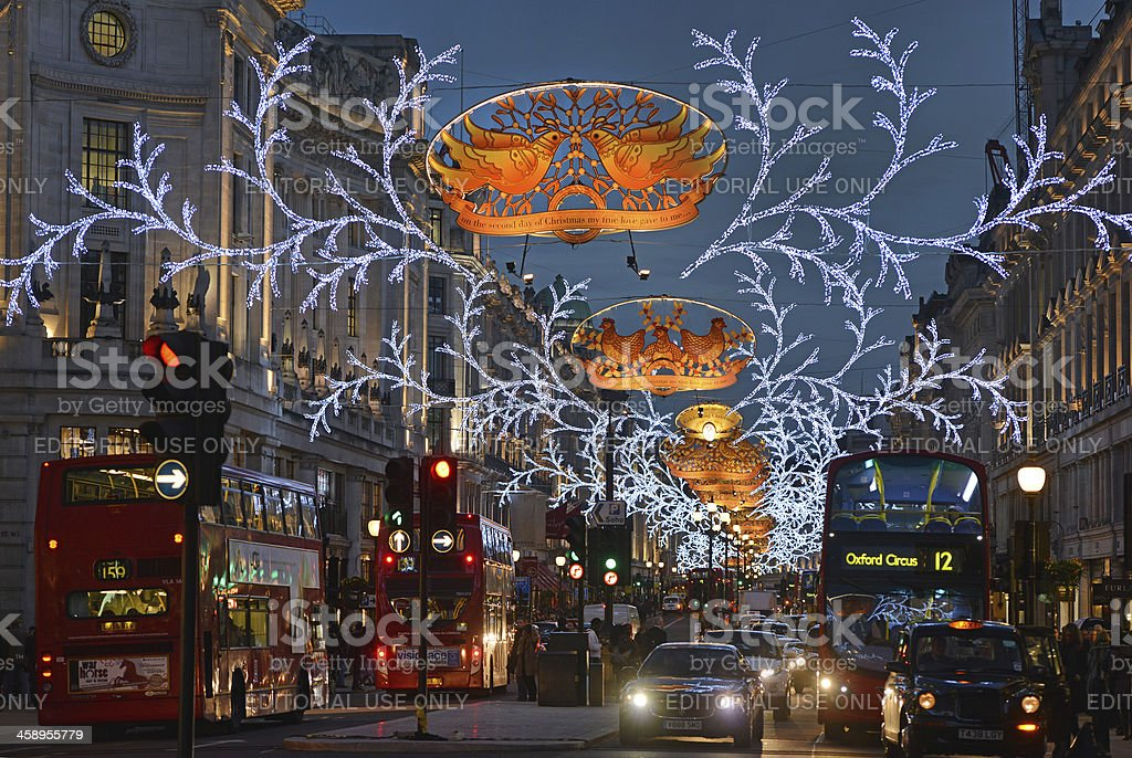 London Christmas stock photo