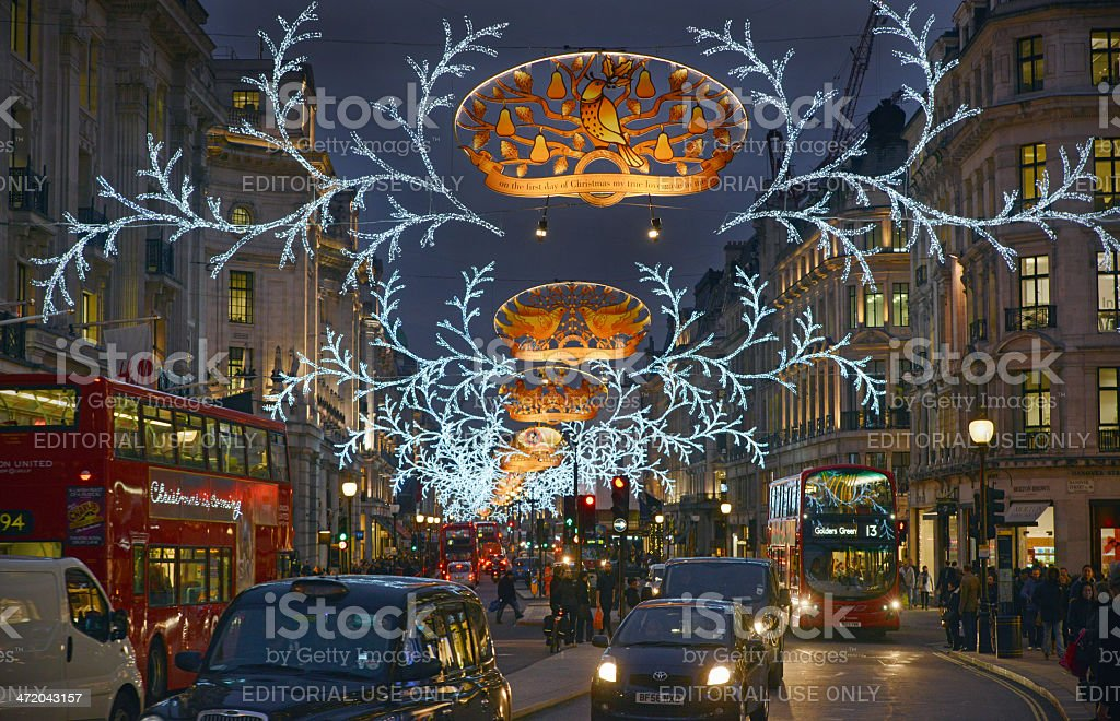 London Christmas royalty-free stock photo