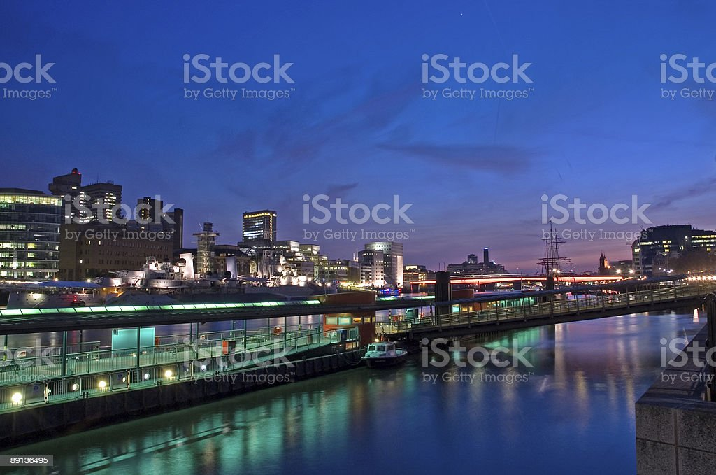 London City By Night royalty-free stock photo