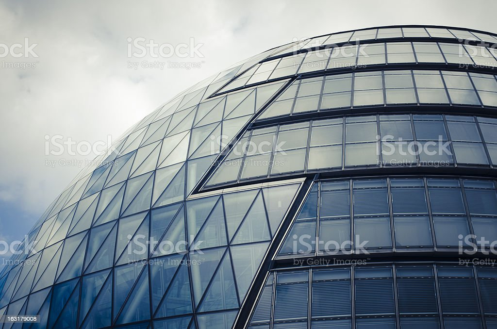 London City Hall - Abstract contemporary architecture stock photo