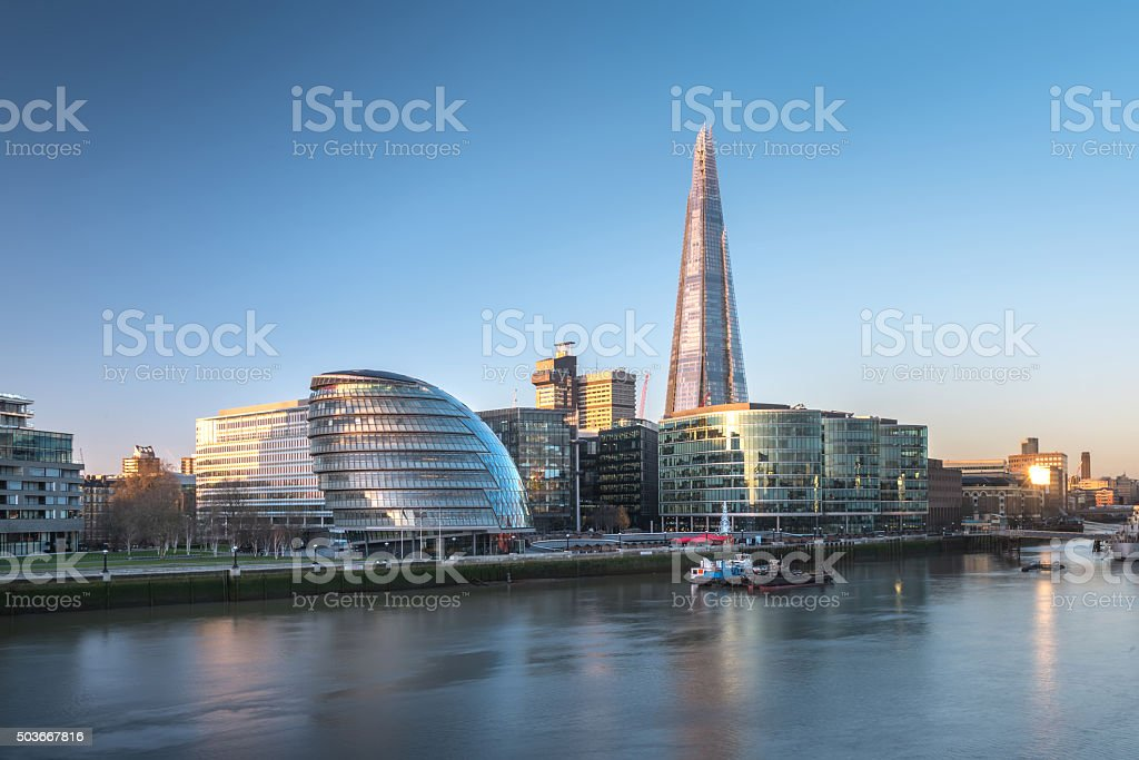 London City Hall in Morning stock photo
