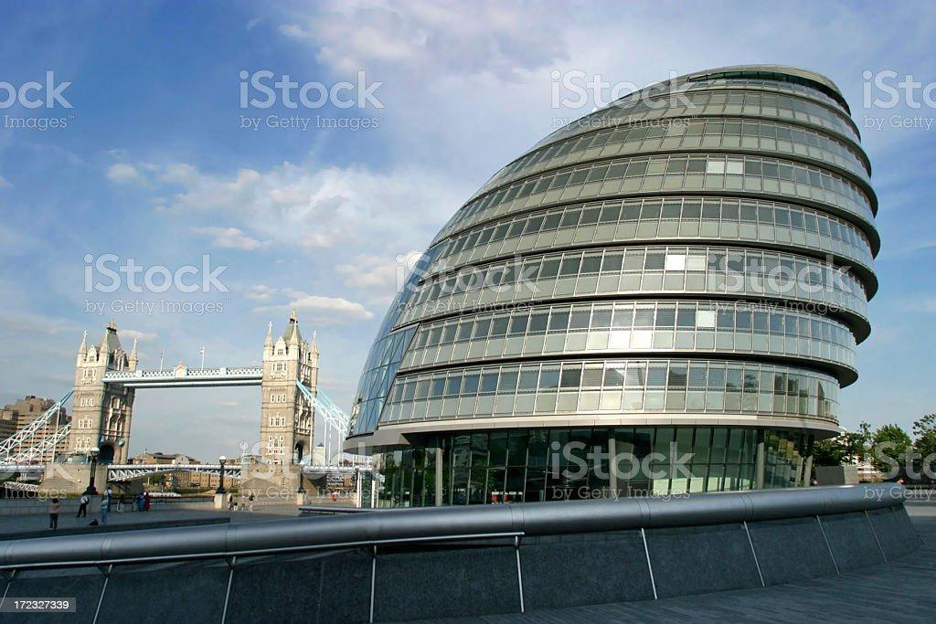 London City Hall royalty-free stock photo
