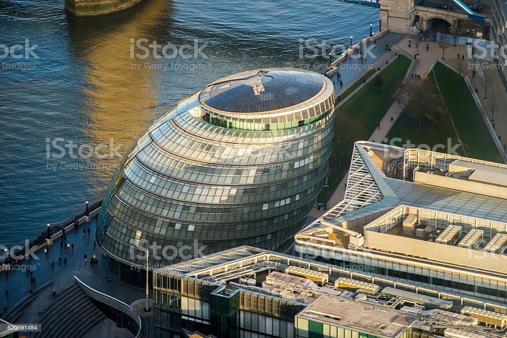 London City Hall stock photo