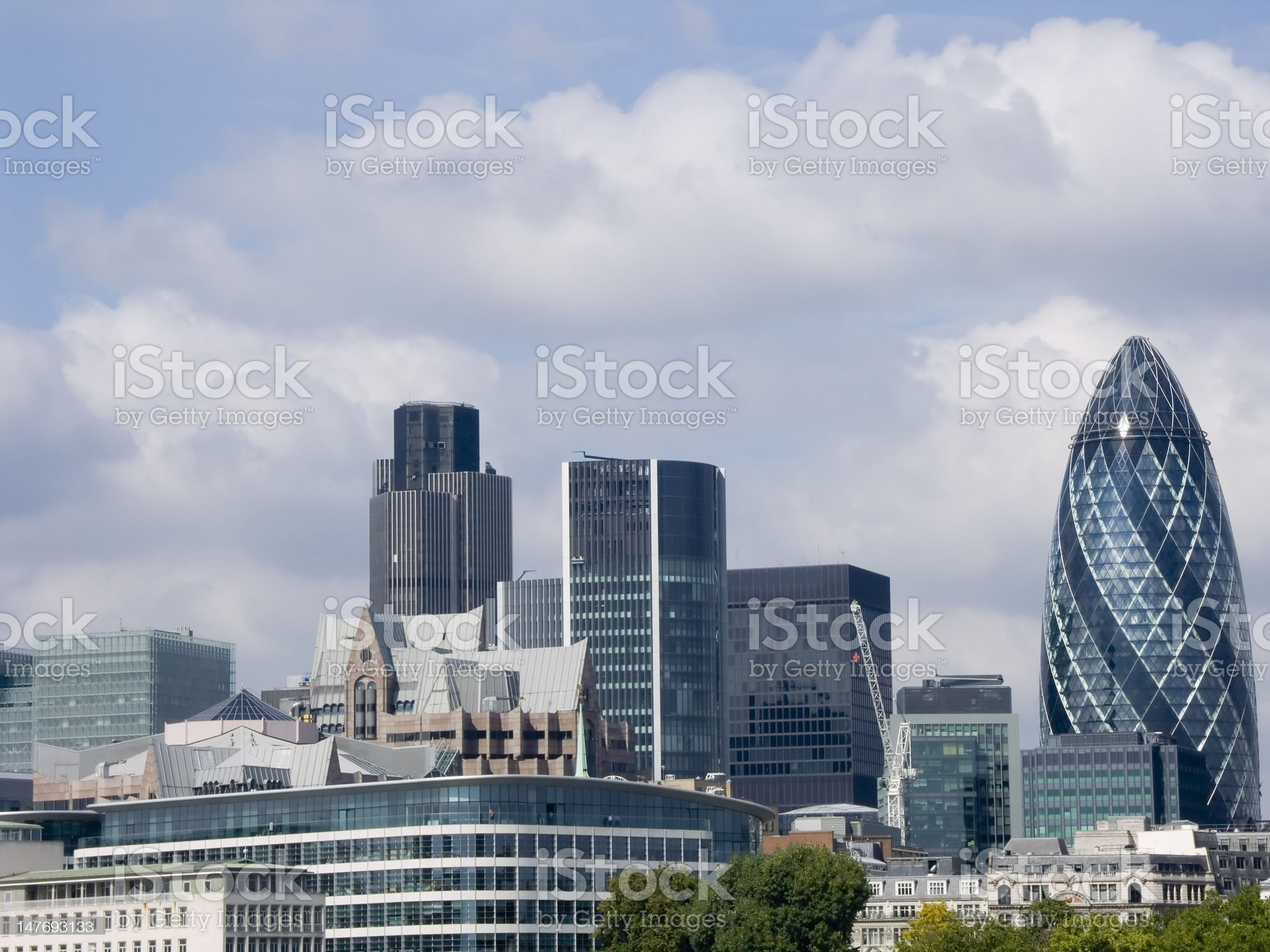London city landscape - office buildings in the square mile royalty-free stock photo