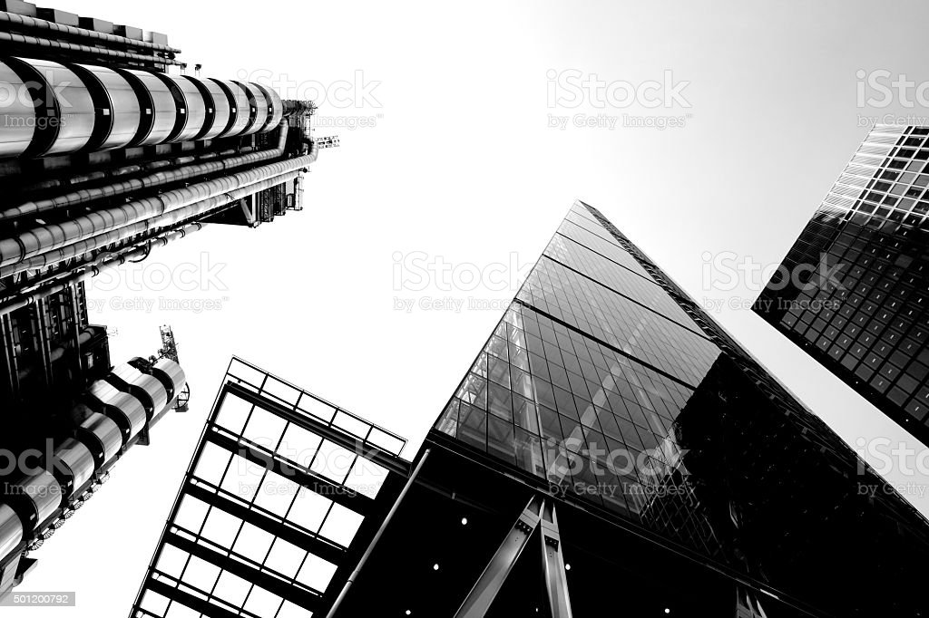 London city office buildings stock photo