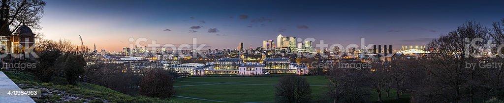 London city panoramic Greenwich stock photo