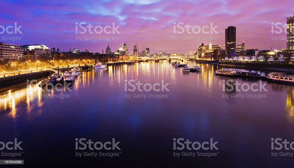 London City Skyline and River Thames in London UK royalty-free stock photo