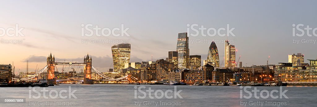 London city skyline. England. stock photo