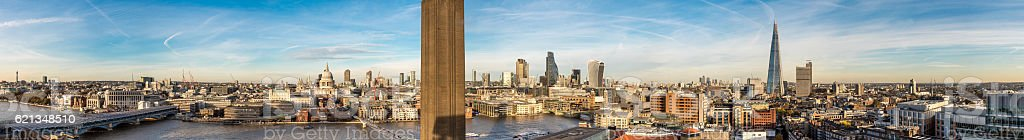 London city skyline panorama stock photo