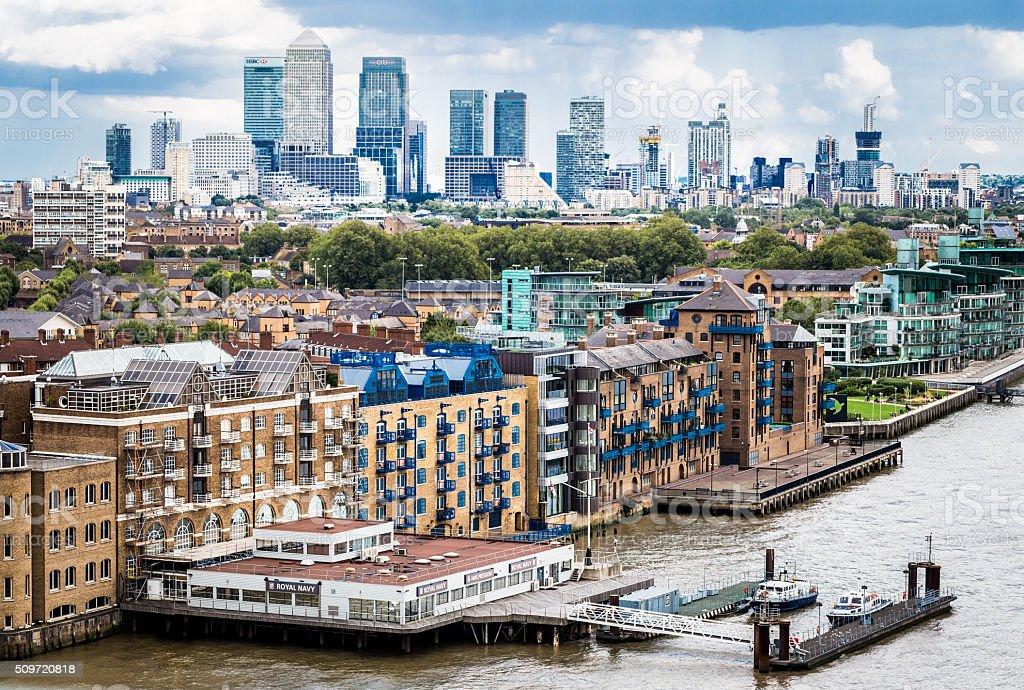 London City Skyline Panoramic View stock photo